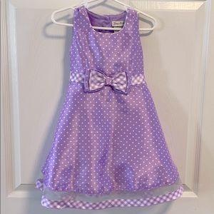 Jona Michelle purple polka dot dress 3